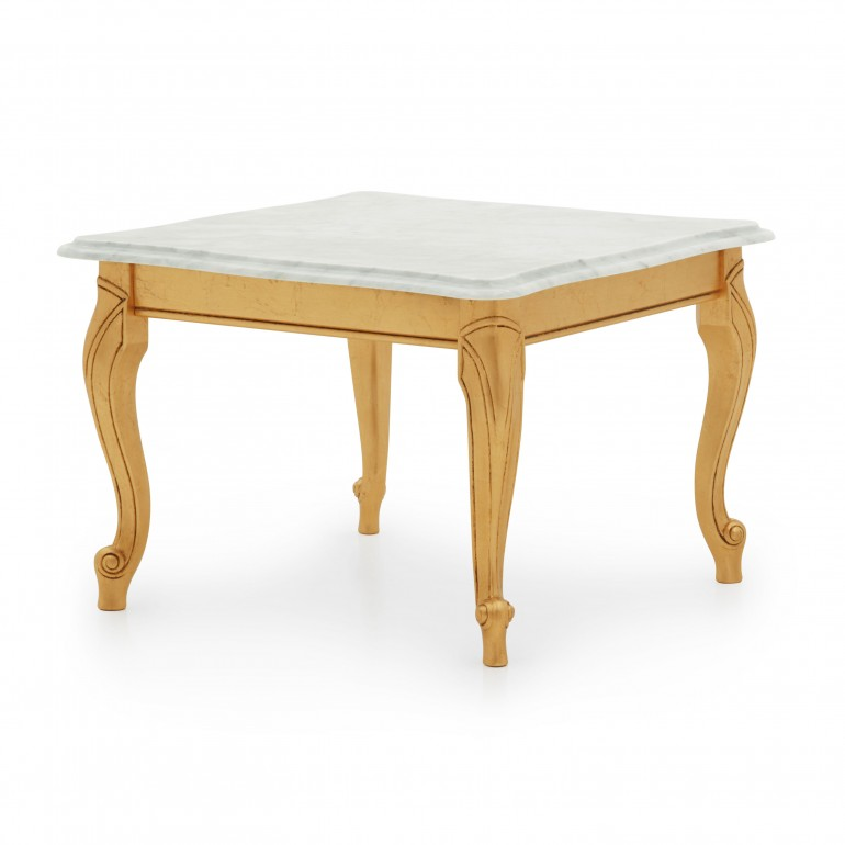 classic small square wooden table