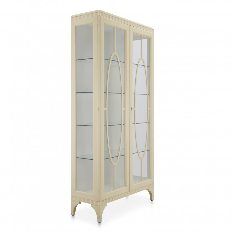 8980 classic style wood glasscupboard ellipse b3