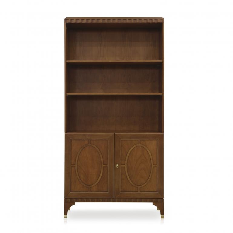 9077 modern style wood bookcase ellipse4