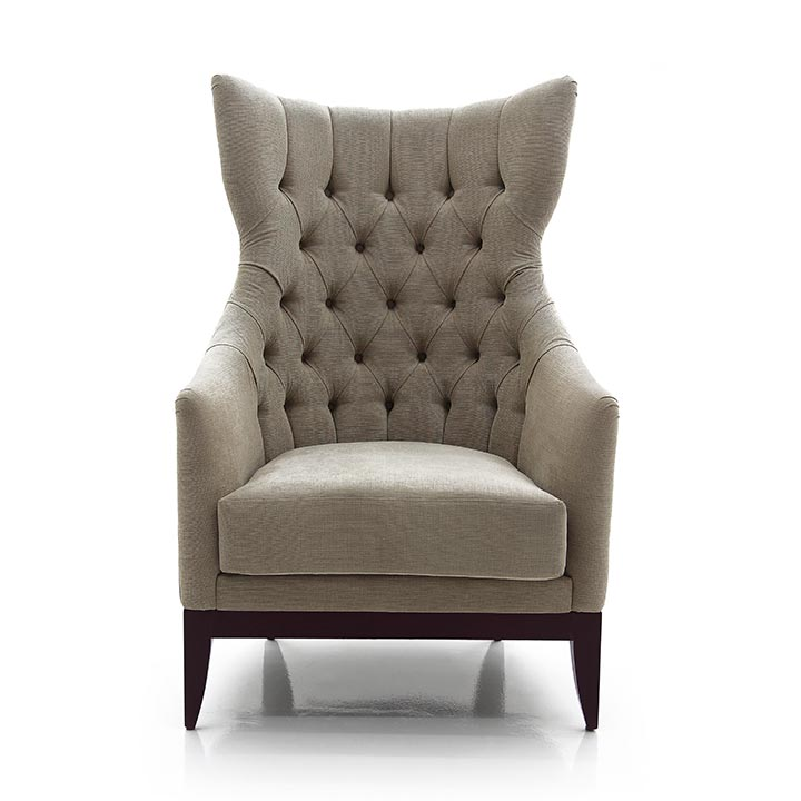 915 modern style wood armchair queen3