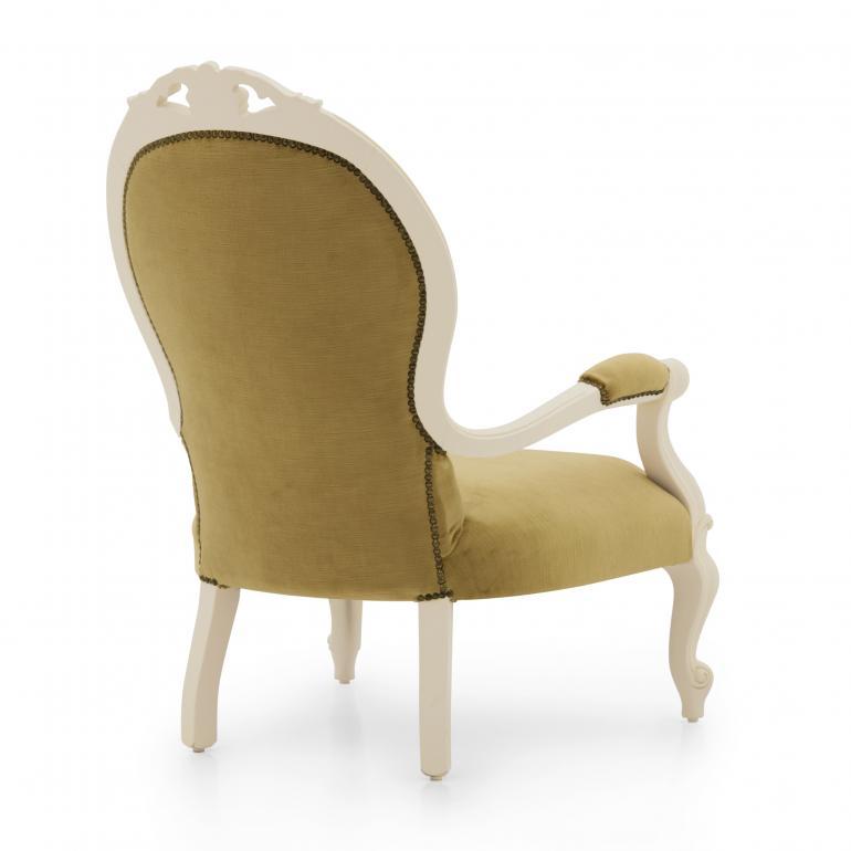 9163 classic style wood armchair pollia b6