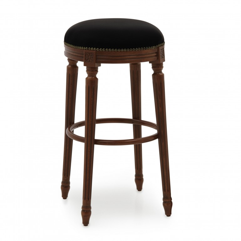 classic style wooden stool