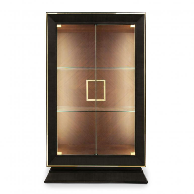 9328 modern style wood glass cupboard cubica