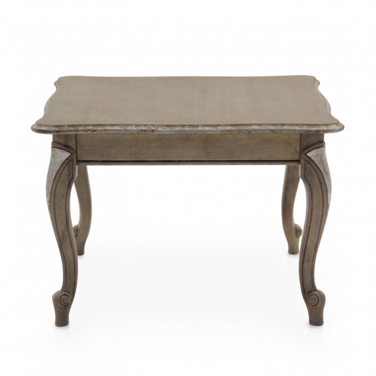 classic style small square wooden table