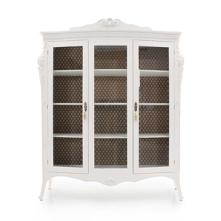 970 classic style wood glass cupboard aura4