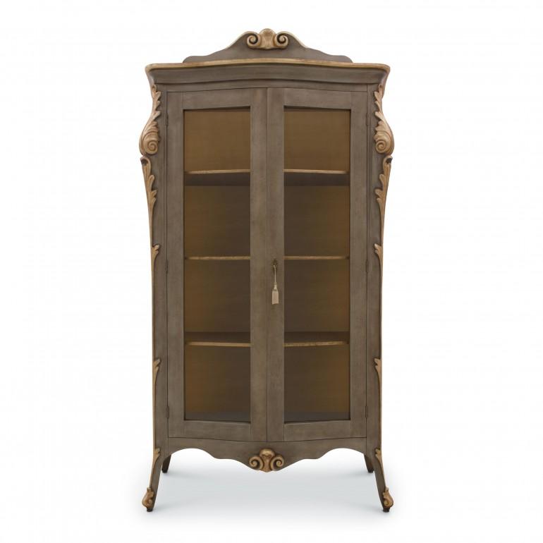 9736 classic style wood glass cupboard aura b6