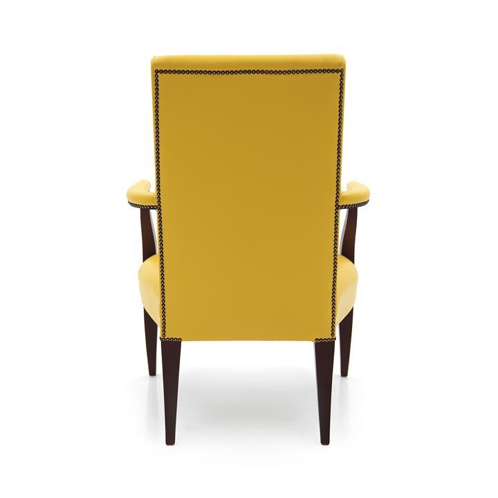 98 modern style wood armchair luna3