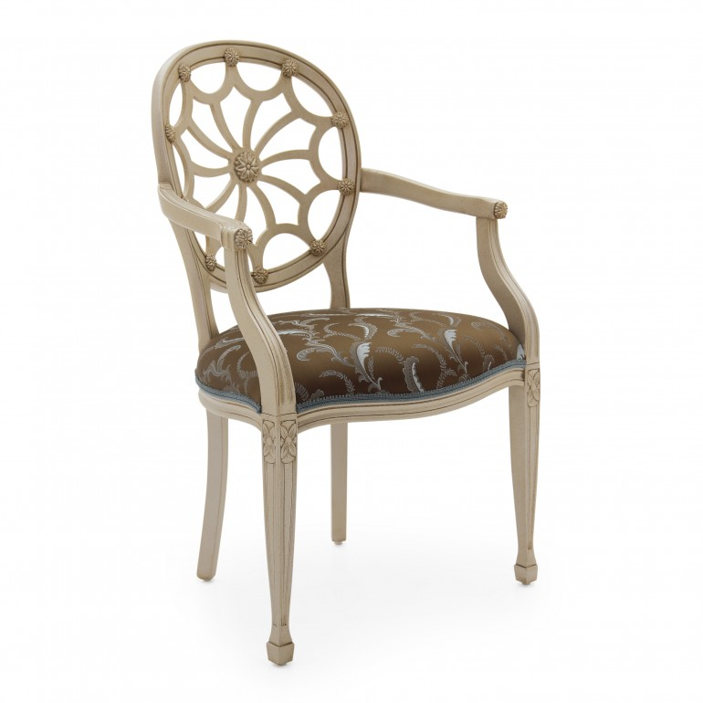 9828 classic style wood armchair sole