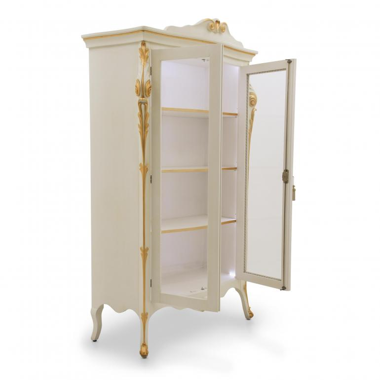 9890 classic style wood glass cupboard aura b5
