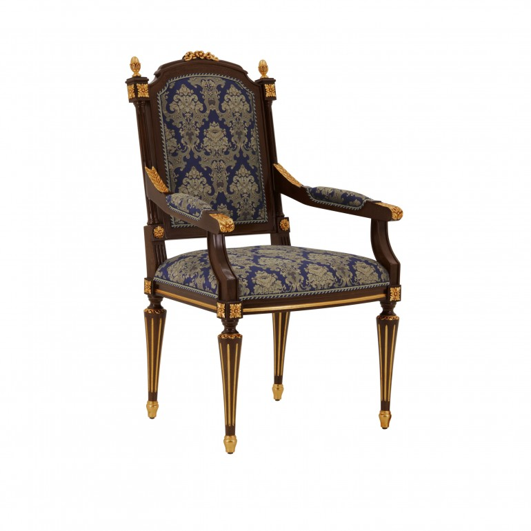 9917 classic style wood armchair castello