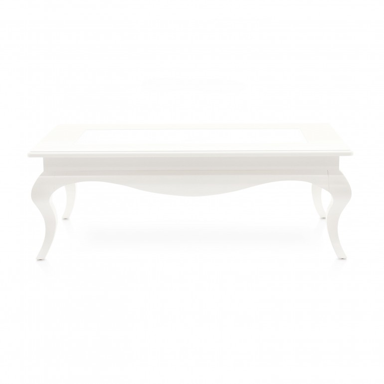 classic low rectangular wood and glass table