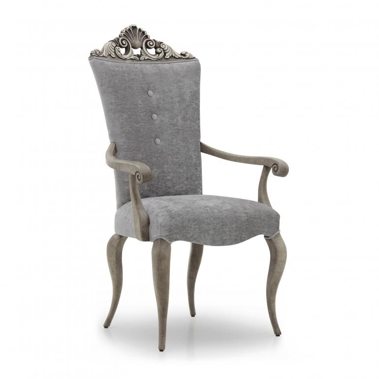 baroque style small wooden armchair