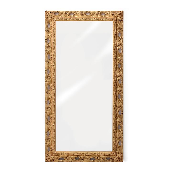 baroque style wood mirror agnese 8972