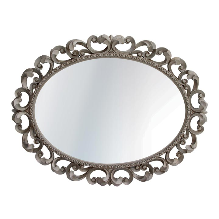baroque style wood mirror augusta 88 2357