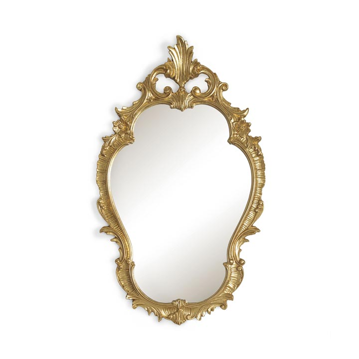baroque style wood mirror caspio 4742