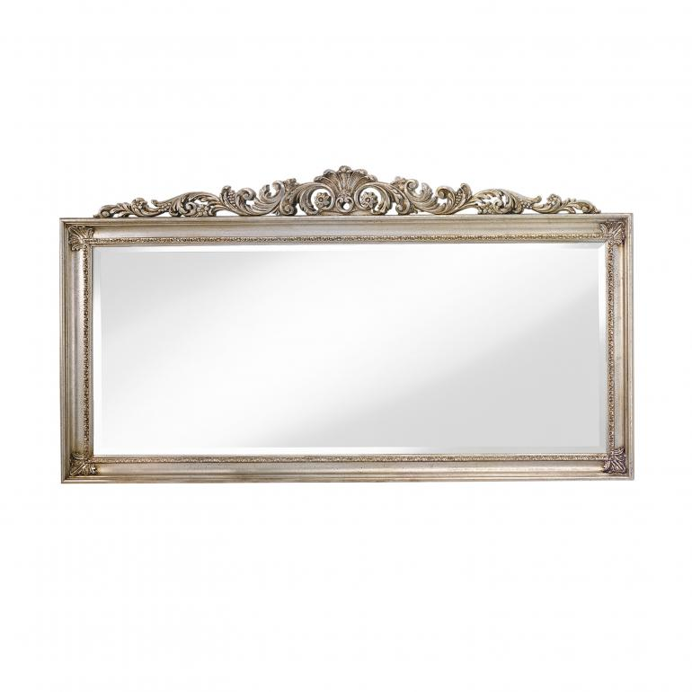 baroque style wood mirror erminia 5172