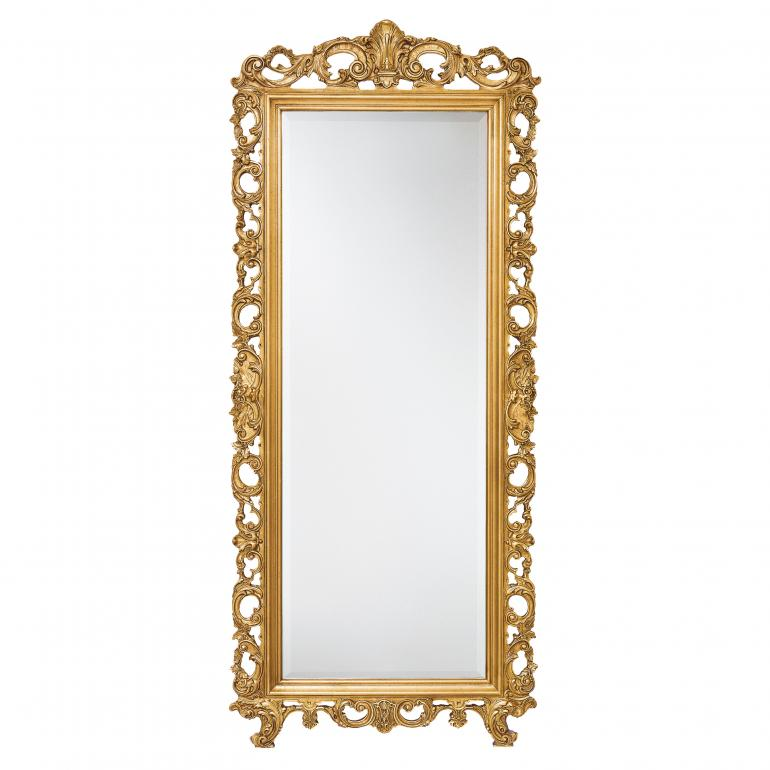 baroque style wood mirror ester 6682 7570