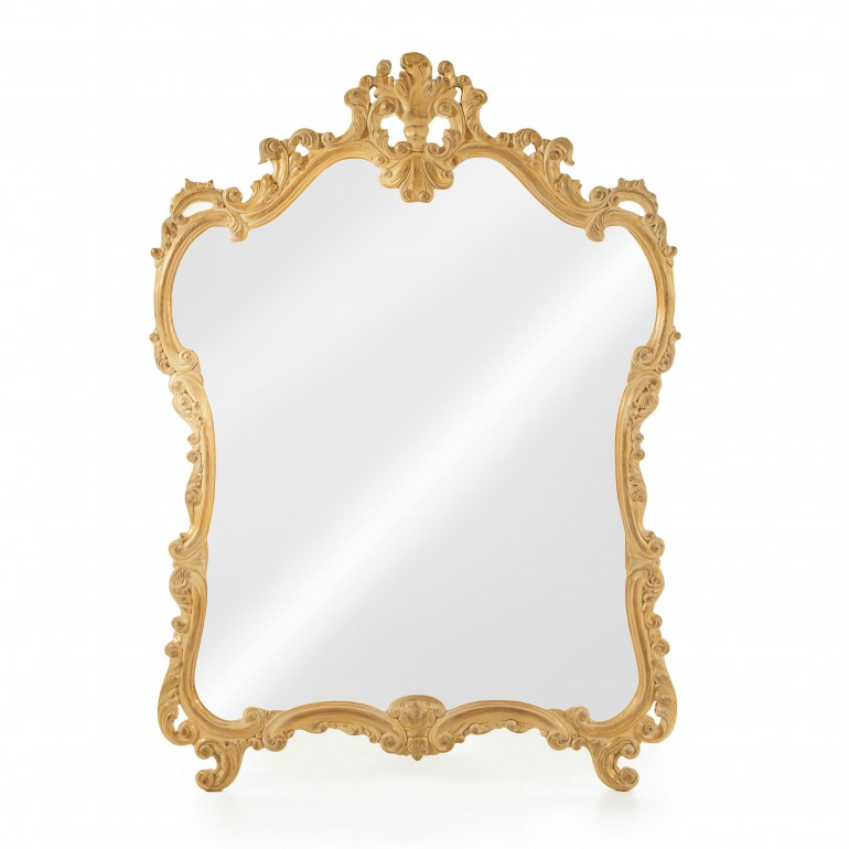 baroque style wood mirror leontide 3569