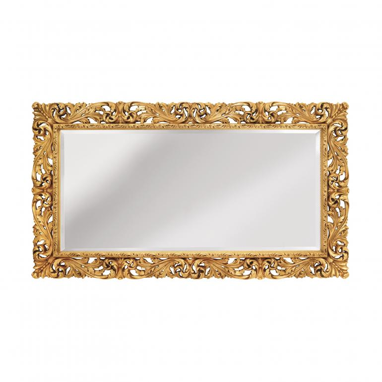 baroque style wooden mirror