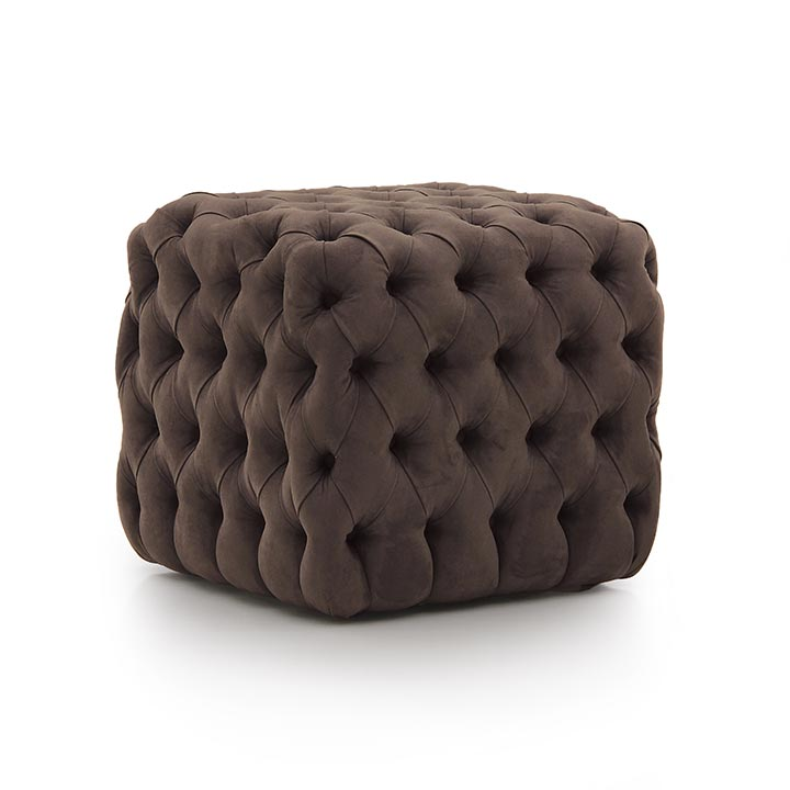 baroque style wooden ottoman