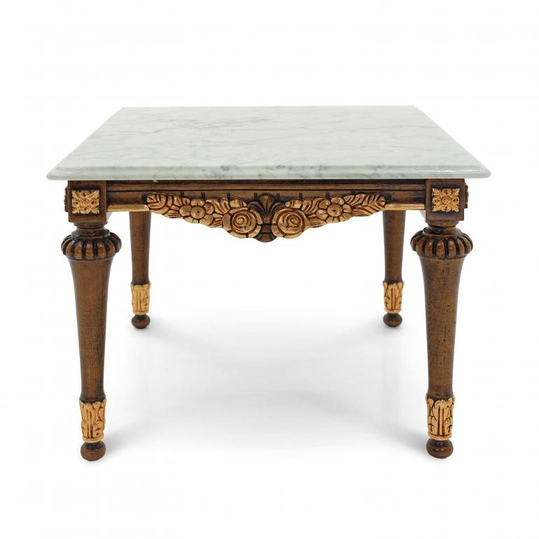 baroque style wood table giano d 7628