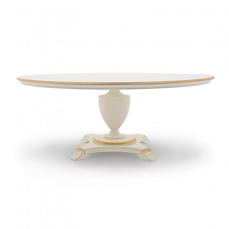 classic style round wood table biscotus 4316