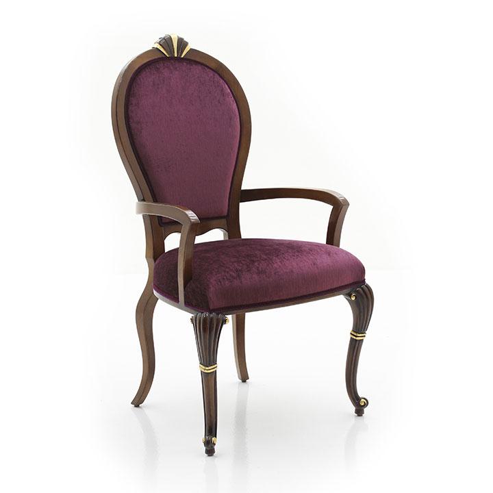 classic style wood armchair anna 2638