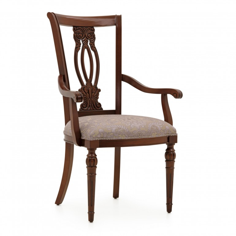 classic style wood armchair auge 5222