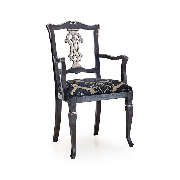 venetian style wooden small armchair