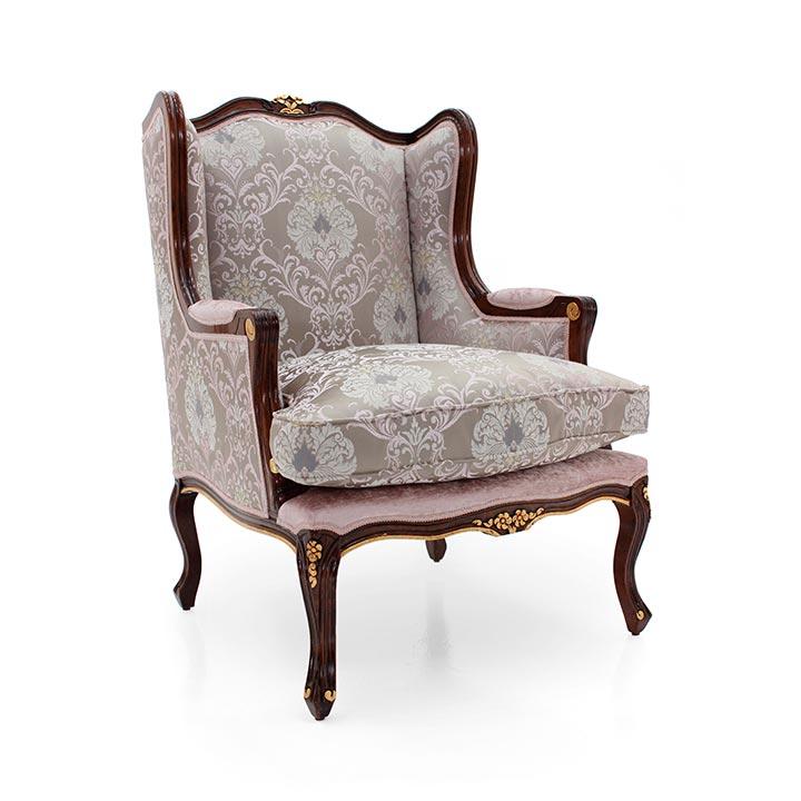 classic style wood armchair enea 82 2369