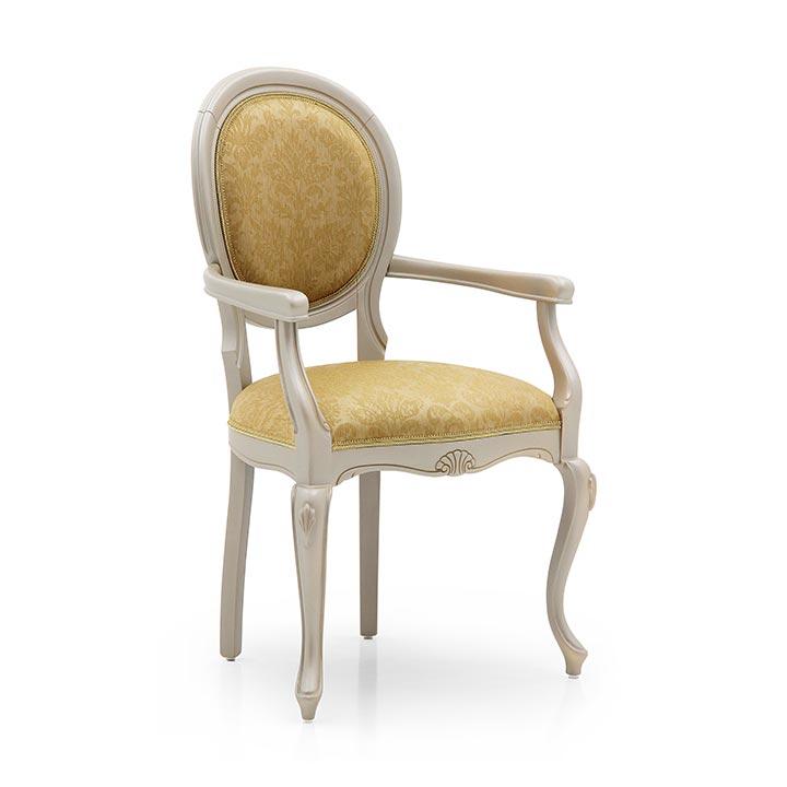 classic style wood armchair evia 41 1678