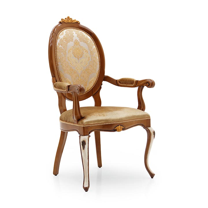 classic style wood armchair flaubert 82 3223