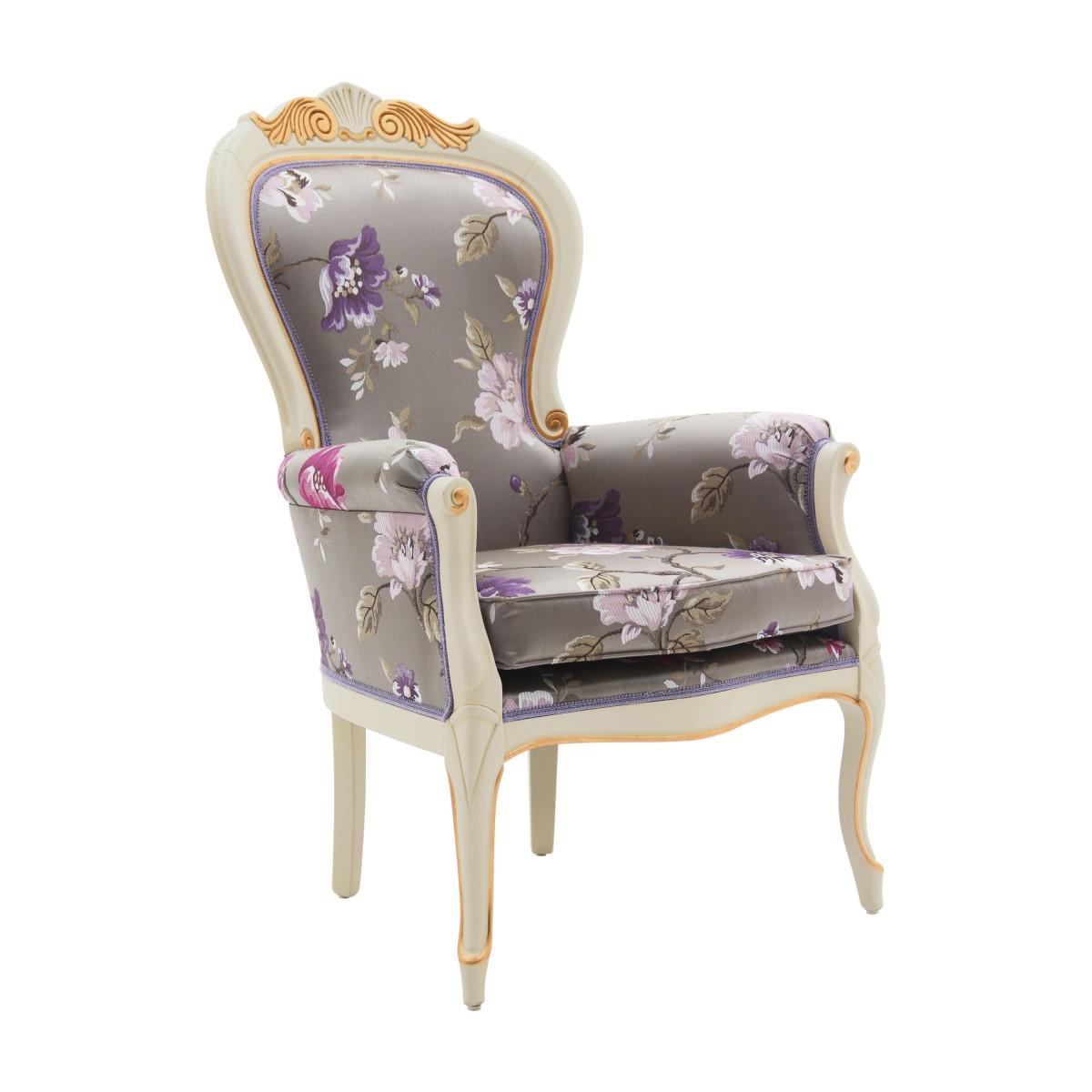 classic style wood armchair foglia 3 1357