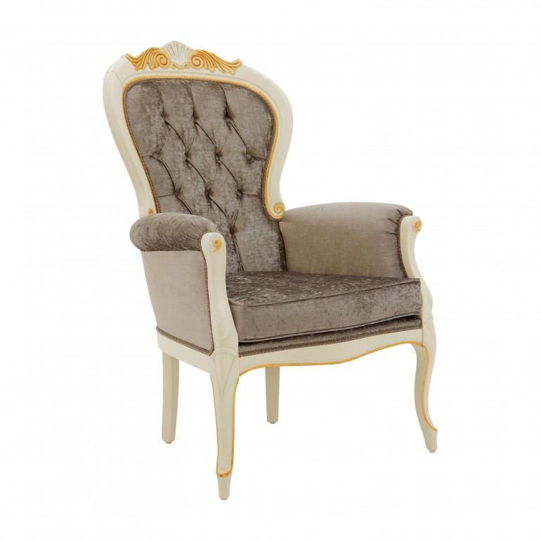 classic style wood armchair foglia 6860