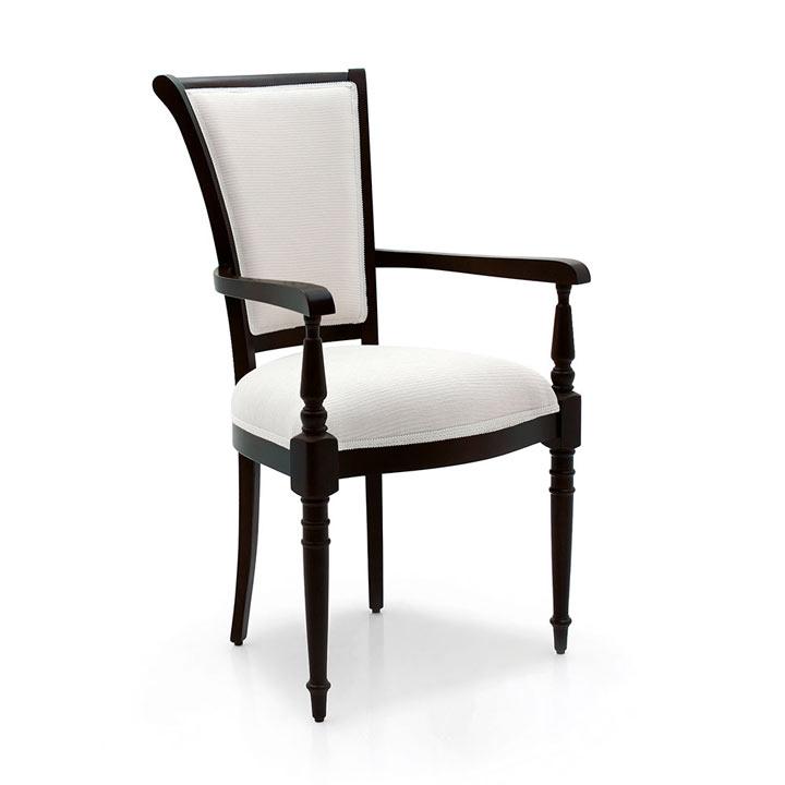 classic style wood armchair goethe 2240
