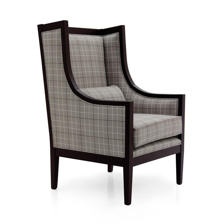 classic style wood armchair miranda 3408