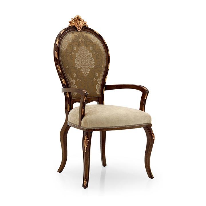 classic style wood armchair nova 8268