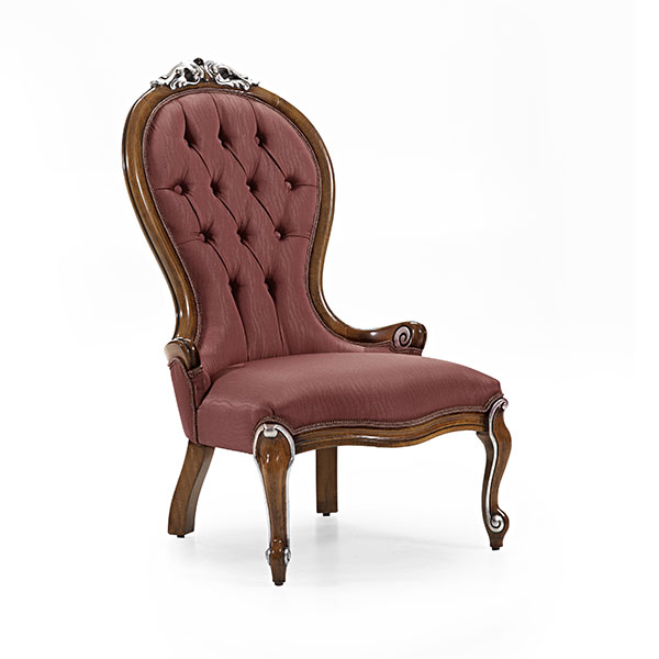 classic style wood armchair pollia 6890