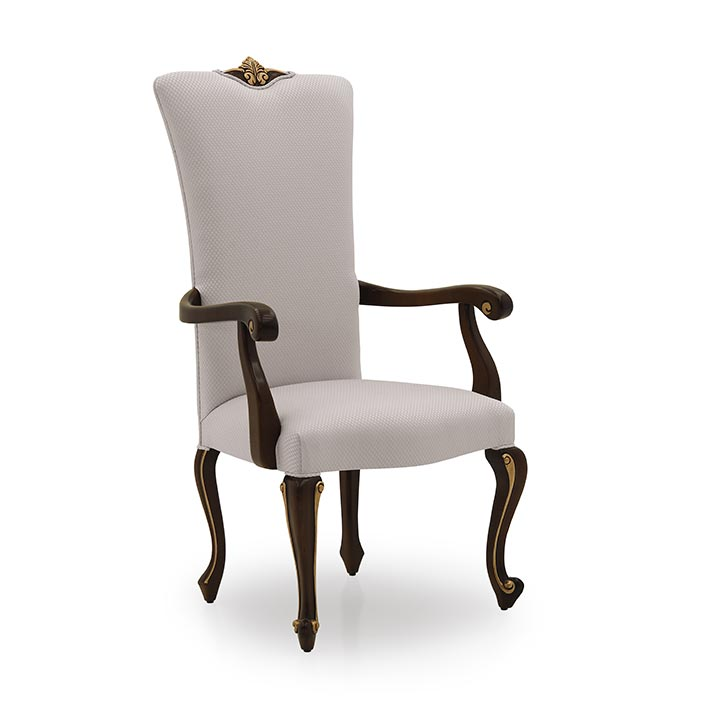 classic style wood armchair prince 69 6201