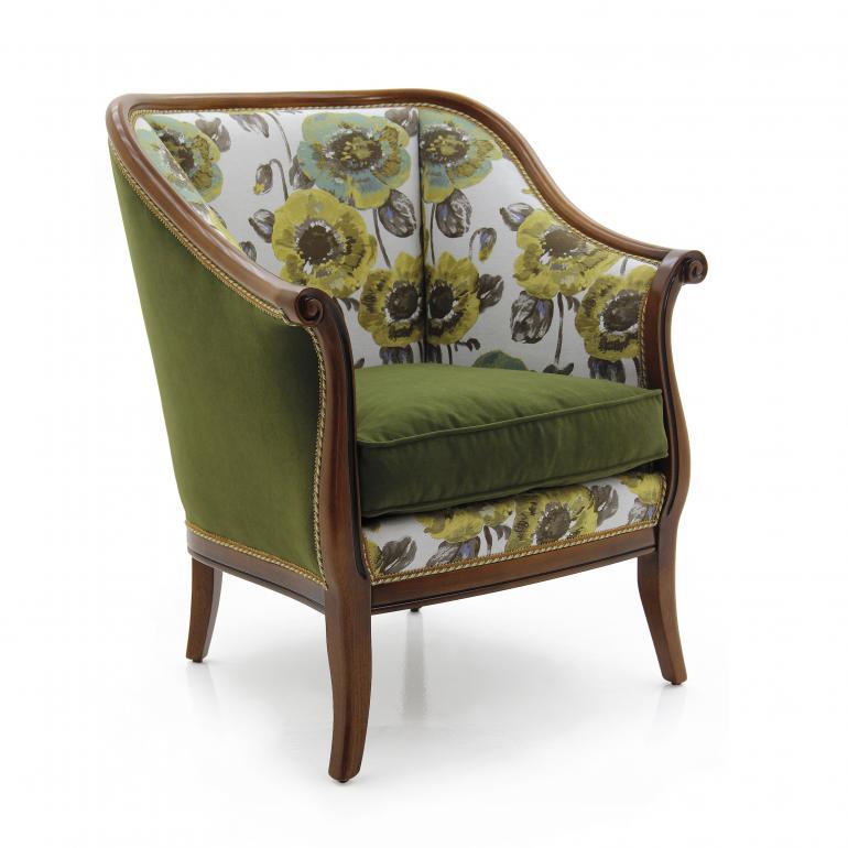 classic style wood armchair sara 6419