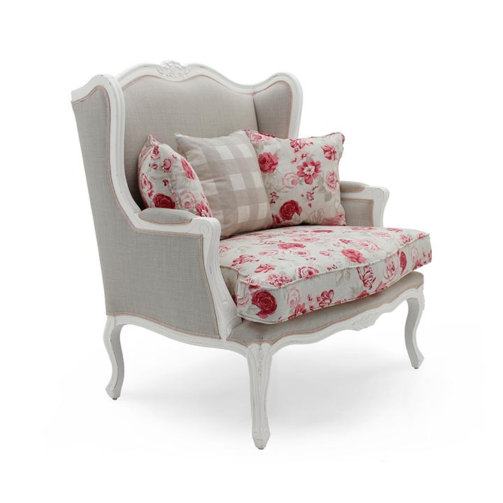 classic style wood armchair stige 87