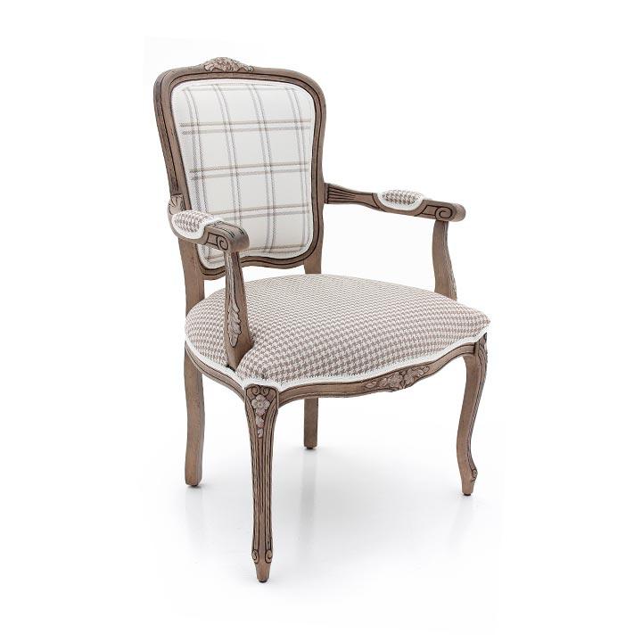classic style wood armchair zeta 75 1158