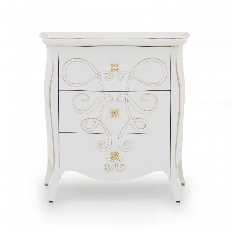 classic style wood bedsidetable butterfly 65 2123
