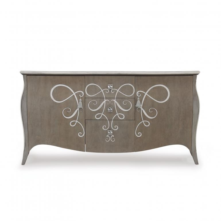 classic style wood sideboard butterfly 49 8066