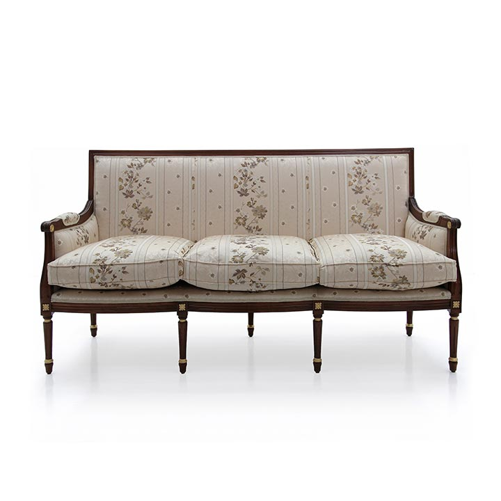 louis xvi style wooden sofa