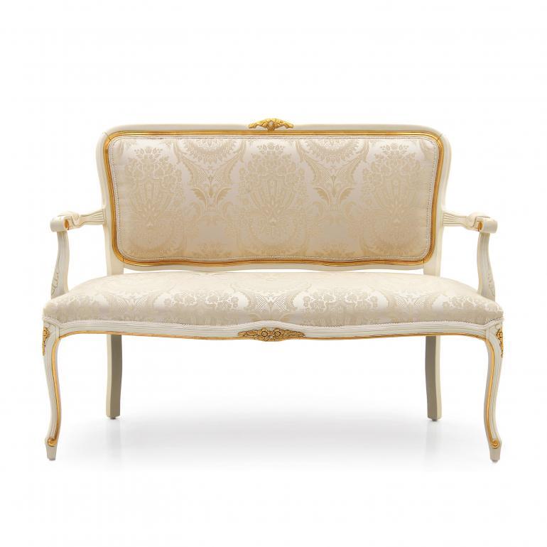 louis xv style wooden sofa
