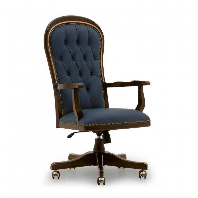 classic office chair. Classic Style Wood Swivel Armchair Diderot 660 Office Chair