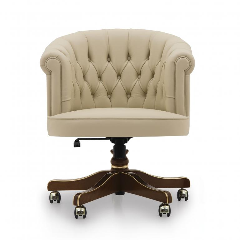 classic style wooden swivel armchair
