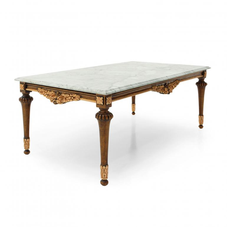 baroque style wooden coffee table
