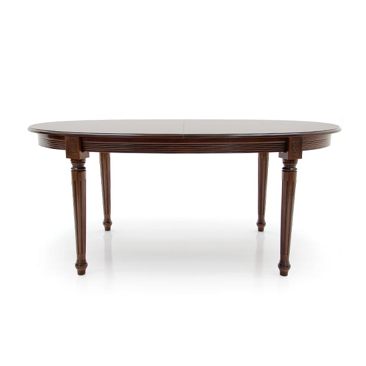 classic style wooden oval table